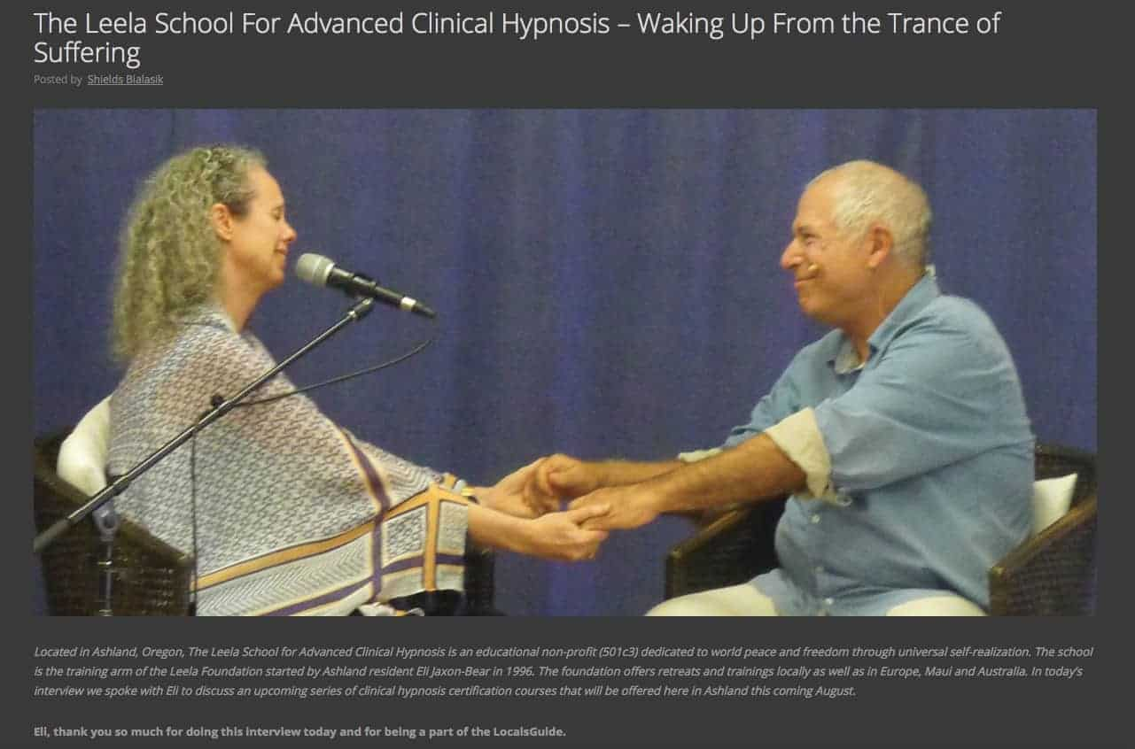 self realization and hypnotherapy courses